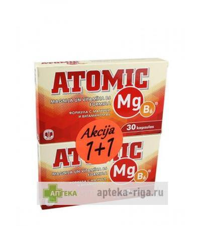 Atomic Mg B6, 30 x 2 kapsulas